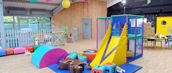 colourful softplay in playhall